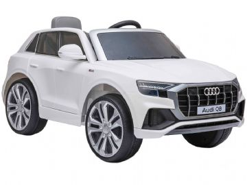 Audi Q8 Quattro SUV Licensed 12v Electric Ride on Car White with Parental Control